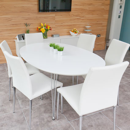 Ellie Oval Dining Table and Elise Chairs Dining Set