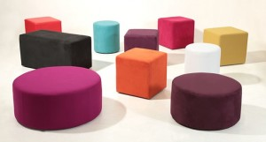 Cube and Drum Stools