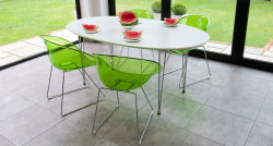 Ellie White Oval Table and Coco Chairs Dining Set