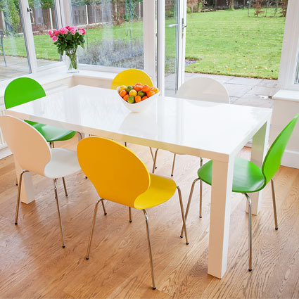 Fern 4-6 Seater Dining Table and Fern Coloured Chairs