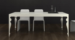 Muse White High Gloss Dining Table