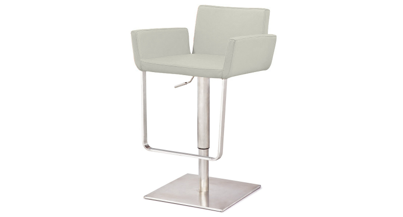 Rocca Funky Brushed Steel Bar Stool