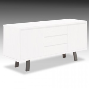 Assi White Gloss Sideboard