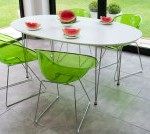 Ellie White Oval and Coco Dining Set