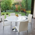 Naro White Round and Elise 4 Seater Dining Set