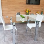 Tiva Glass Table and Tori Small Dining Set