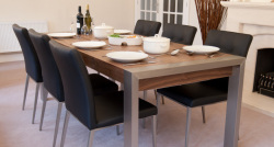 Style Extending Dining Table and Moda Dining Chairs