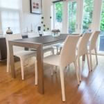 Casa Matt Black and Argenta Extending Dining Set
