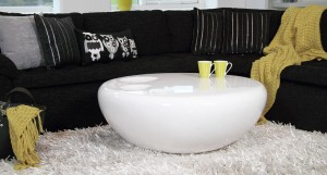 Griffon White Round Coffee Table
