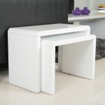 Luca White Gloss Nest of Tables
