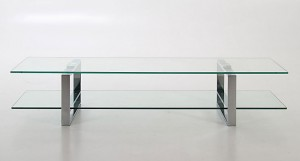Solero Glass TV Table