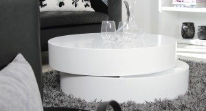 Velenza Large Matt White Coffee Table
