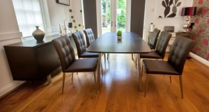 Assi Wenge Extending Dining Table and Moda Chairs