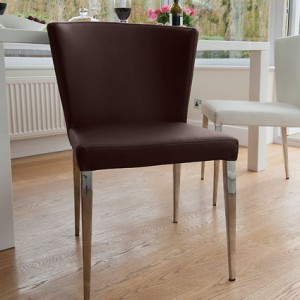 Curva Dining Chair in Brown