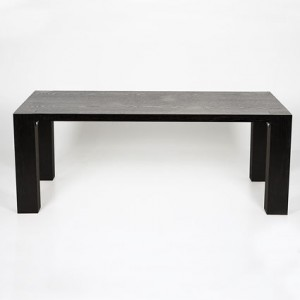 Carlo Large Black Ash Extending Dining Table