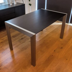 Casa Wenge Dark Wood Extending Dining Table