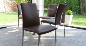 Elise Dining Chair in Brown