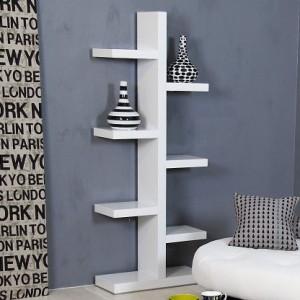 Fern White Gloss Bookcase