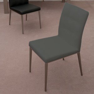 Moda Dining Chair in grey faux leather
