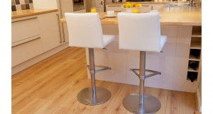 Elise Stainless Steel Gas Lift Bar Stool