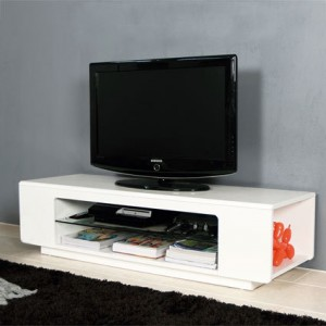 Luigi White Gloss TV Table
