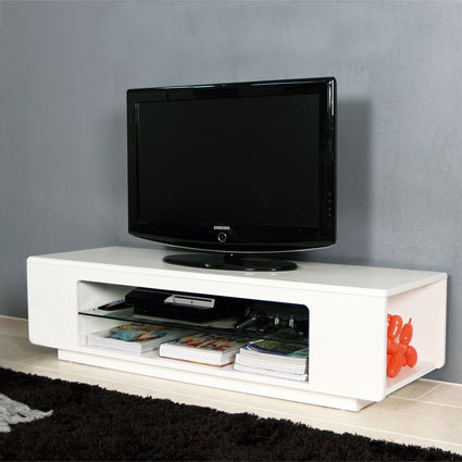 Luigi White Gloss TV Table