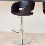 Savina Chrome Gas Lift Bar Stool