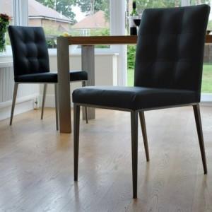 Angola Oak Veneer Table and Moda Chairs Dining Set