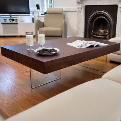Aria Large Espresso Dark Wood Coffee Table