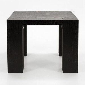 Carlo Black Ash Lamp Table