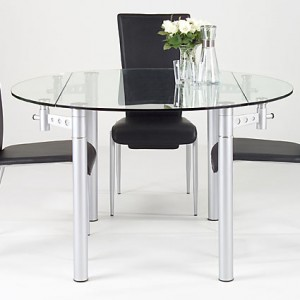 Lenz Round Glass Dining Table