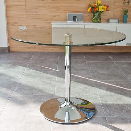 Naro Round Glass 4 Seater Table