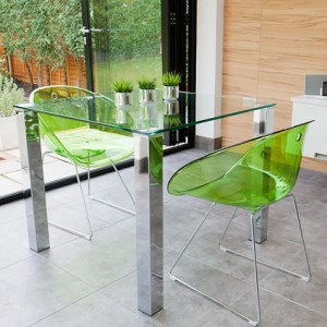 Tiva Glass Table and Coco Small Dining Set