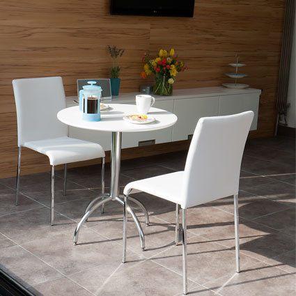 Zack White Table and Tori 2 Seater Dining Set