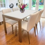 Casa Matt White and Moda Extending Dining Set