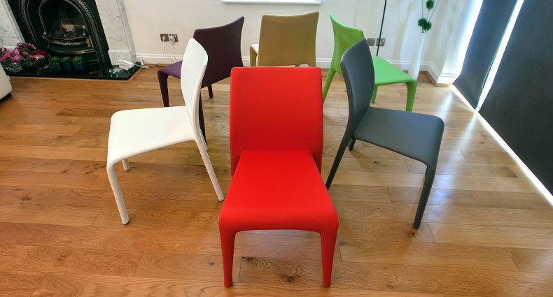 Argenta Coloured Faux Leather Dining Chairs