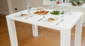 Fern Matt White Extending Dining Table