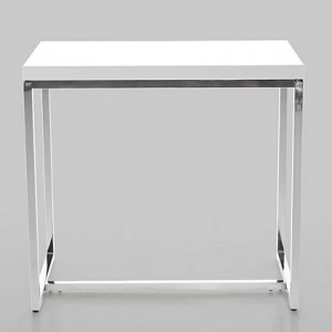 Venta White Gloss Console Table