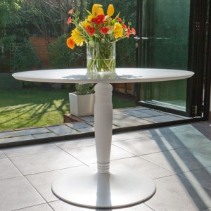 Vico Matt White Round Dining Table