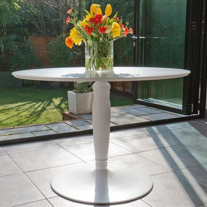 Vico Matt White Round Dining Table