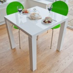 Fern White Gloss Kitchen Table : Product Spotlight