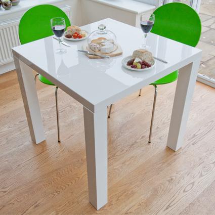 Fern White Gloss Kitchen Table