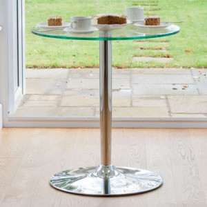 Naro Round Glass 2 Seater Table