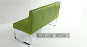 Genoa Fresh Lime Dining Bench with Backrest