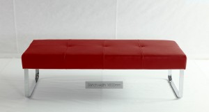 Genoa Raspberry Red Dining Bench
