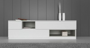 Emilia White Oak Veneer TV Unit