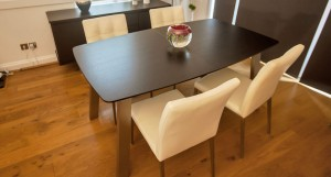 Assi Wenge Dark Wood Extending Dining Table