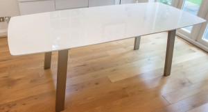 Assi White Gloss Extending Table