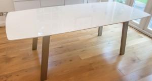 Assi White Gloss Extending Table
