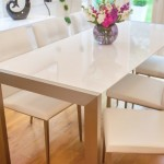 Casa White Gloss Extending Dining Table